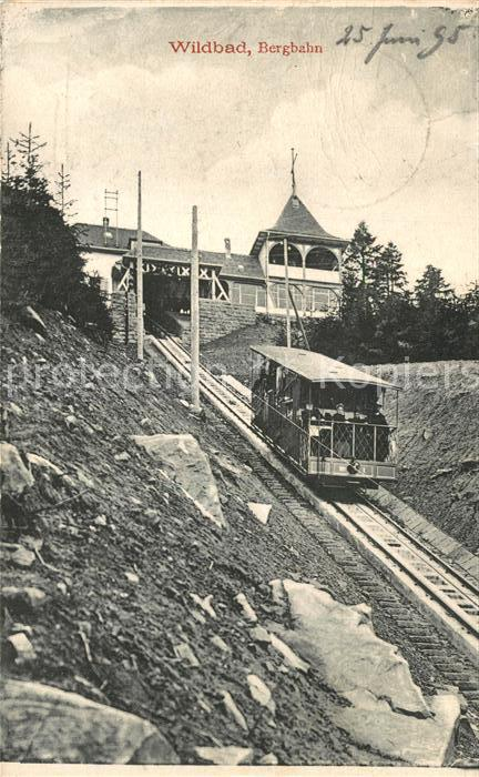 AK / Ansichtskarte Bergbahn Wildbad Schwarzwald  Bergbahn
