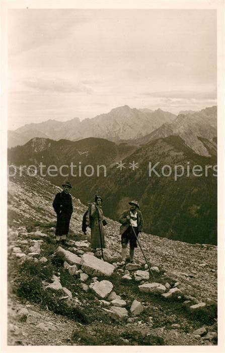AK / Ansichtskarte Wandern Wallgau Wanderer  Wandern