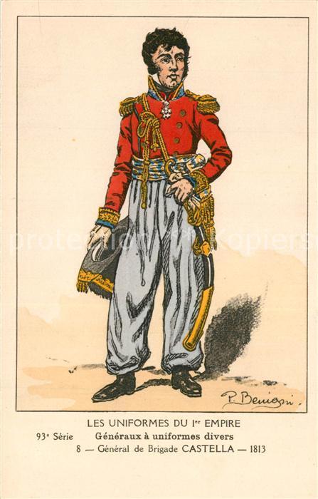 AK / Ansichtskarte Militaria_Generaele_Stab_Frankreich General de Brigade Castella Uniformes du 1er Empire  Militaria_Generaele