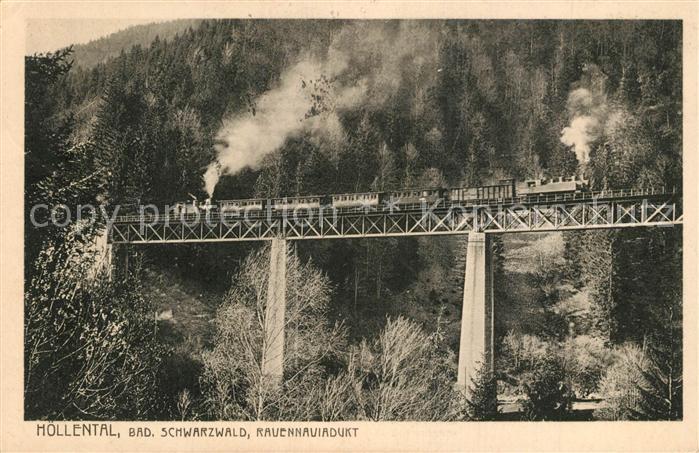 AK / Ansichtskarte Eisenbahn Hoellental Schwarzwald Ravennaviadukt  Eisenbahn