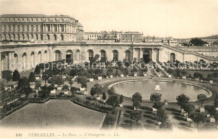 AK / Ansichtskarte Versailles_Yvelines Le Parc L Orangerie Versailles_Yvelines