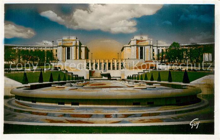 AK / Ansichtskarte Paris Le Palais de Chaillot vu des Jardins Paris