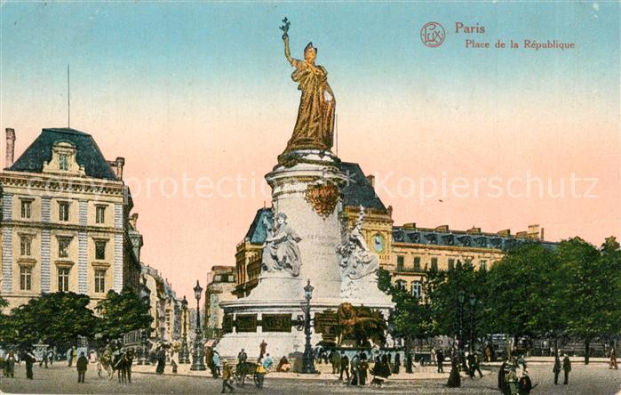 AK / Ansichtskarte Paris Place de la Republique Paris