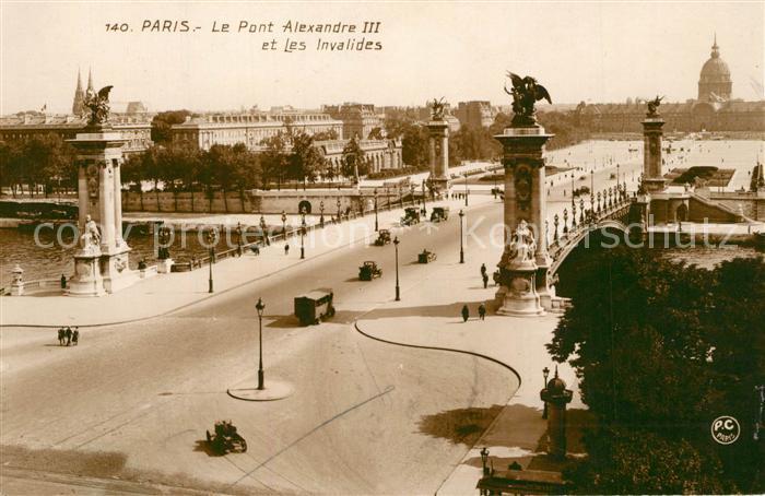 AK / Ansichtskarte Paris Le Pont Alexandre III et Les Invalides Paris