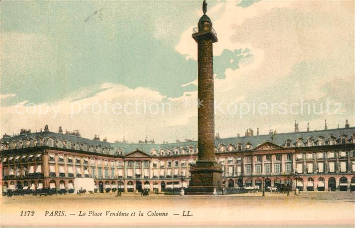AK / Ansichtskarte Paris La Place Vendome et la Colonne Paris
