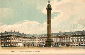 AK / Ansichtskarte Paris La Place Vendome et la Colonne Paris