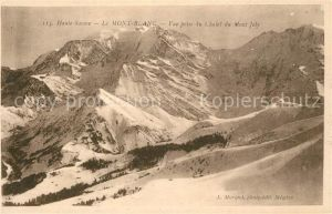 AK / Ansichtskarte Mont_Blanc Vue prise du Chalet du Mont Joly Mont_Blanc