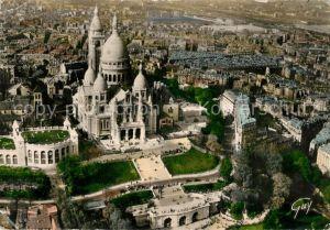AK / Ansichtskarte Paris La Basilique du Sacre Coeur de Montmartre Vue aerienne Paris