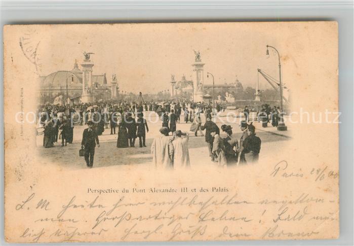 AK / Ansichtskarte Paris Pont Alexandre III et des Palais Paris