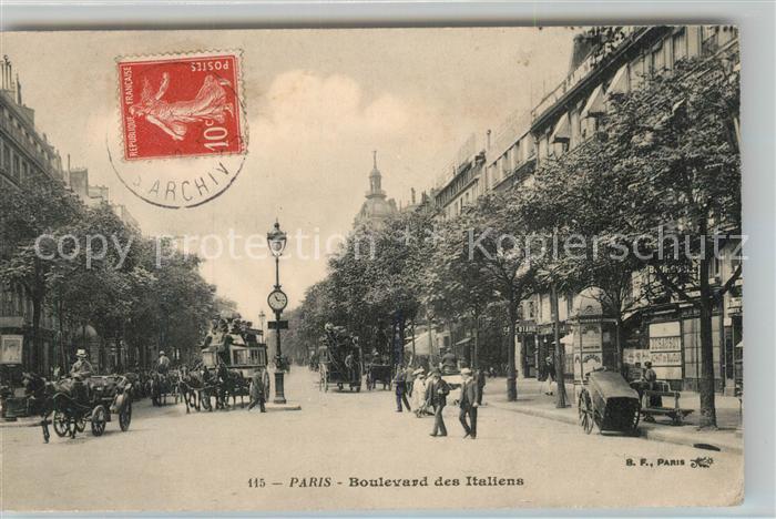 AK / Ansichtskarte Paris Boulevard des Italiens Paris