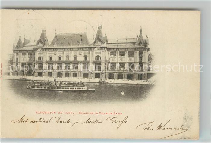 AK / Ansichtskarte Paris Palais de la Ville de Paris Paris