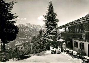 AK / Ansichtskarte Berchtesgaden Alpenwirtschaft Vorderbrand mit Untersberg Berchtesgaden