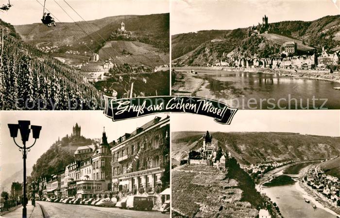 AK / Ansichtskarte Cochem_Mosel Burg Sesselbahn Cochem Mosel