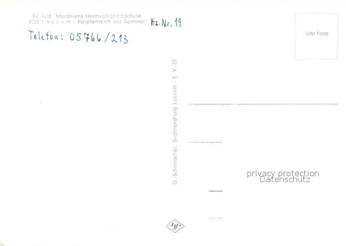 AK / Ansichtskarte Loccum Ev. Luth. Marahrens Heimvolkshochschule Loccum 1