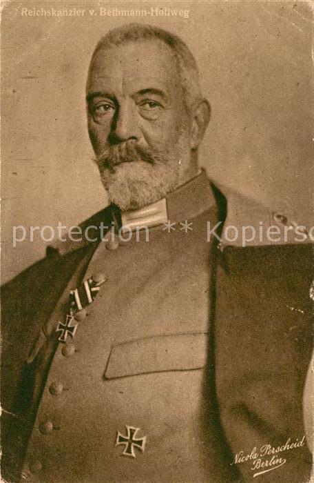 AK / Ansichtskarte Politiker Theobald von Bethmann Hollweg Wohlfahrtskarte  Politiker