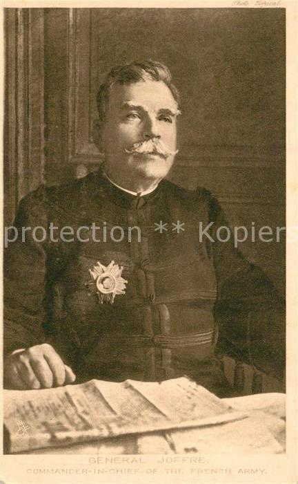 AK / Ansichtskarte Verlag_Tucks General Joffre Commander in Chief French Army  Verlag_Tucks