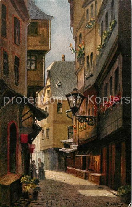 AK / Ansichtskarte Kuenstlerkarte B. Liebig Frankfurt am Main Lange Schirn  Kuenstlerkarte