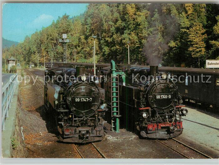 AK / Ansichtskarte Lokomotive Schmalspurlokomotiven Bahnhof Kipsdorf  Lokomotive