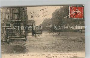 AK / Ansichtskarte Paris Inondations Janvier 1910 Hotel Terminus et Rue Saint Lazare Hochwasser Katastrophe Paris