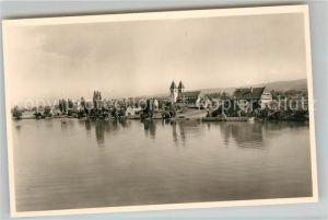 AK / Ansichtskarte Insel_Reichenau Ansicht vom See aus Fliegeraufnahme Insel Reichenau
