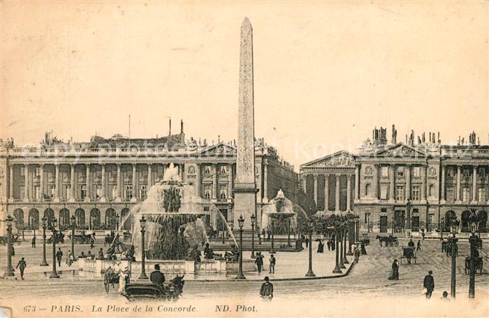 AK / Ansichtskarte Paris La Place de la Concorde Paris