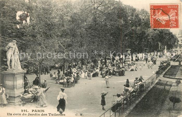 AK / Ansichtskarte Paris Un coin du Jardin des Tuileries Paris