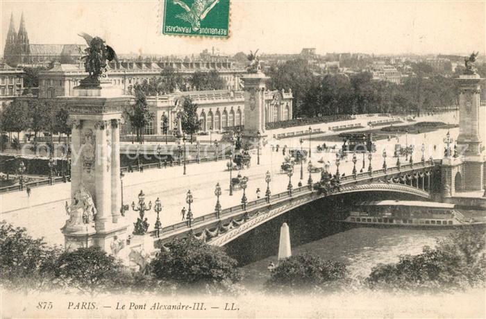 AK / Ansichtskarte Paris Le Pont Alexandre III Paris