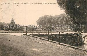 AK / Ansichtskarte Versailles_Yvelines Parc de Versailles Le Bassin et la Cascade de l'Allee des Marmousee Versailles_Yvelines