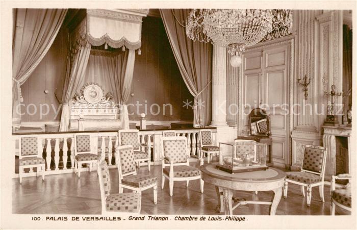 AK / Ansichtskarte Grand Trianon Palais de Versailles Chambre de Louis Philippe Grand Trianon