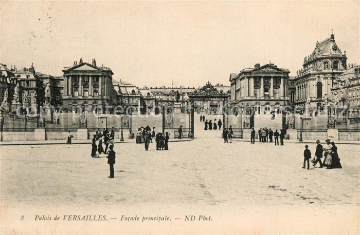 AK / Ansichtskarte Versailles_Yvelines Facade principale Versailles_Yvelines