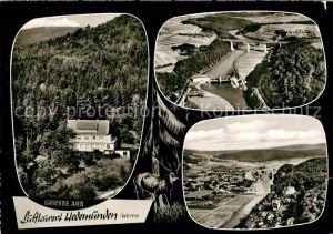 AK / Ansichtskarte Hedemuenden Fliegeraufnahme Werrapartien Hedemuenden