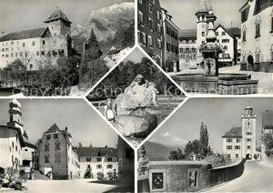 AK / Ansichtskarte Maienfeld Brunnen Schloss Maienfeld