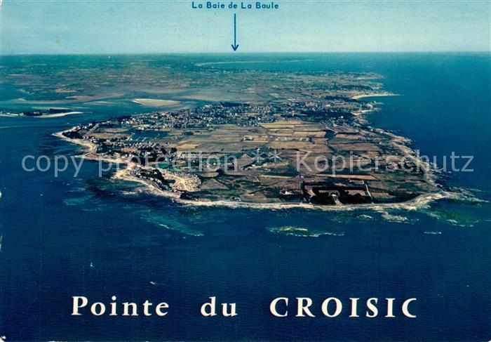 AK / Ansichtskarte Le_Croisic Fliegeraufnahme au fond la Baie de la Baule Le_Croisic