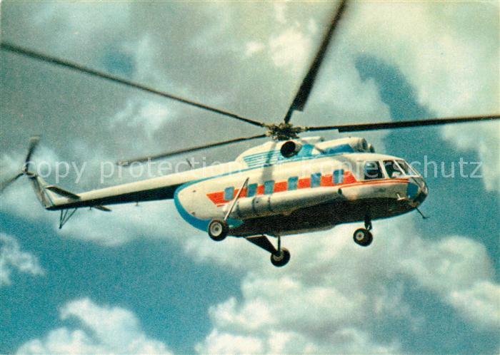 AK / Ansichtskarte Hubschrauber_Helikopter Aeroflot MI 8  Hubschrauber Helikopter