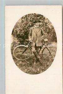 AK / Ansichtskarte Fahrrad Mann Privatfoto Ak  Fahrrad