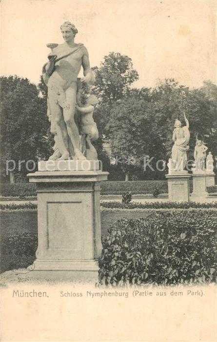 AK / Ansichtskarte Muenchen Schloss Nymphenburg Parkpartie Muenchen