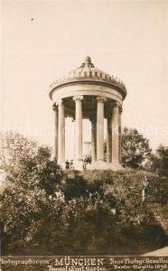 AK / Ansichtskarte Muenchen Tempel im Englischen Garten Muenchen