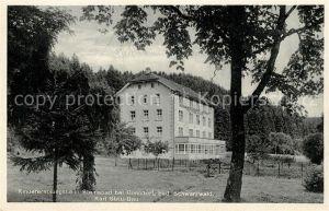 AK / Ansichtskarte Steinabad Kindererholungsheim Karl Stritt Bau Schwarzwald Steinabad