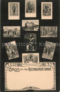 AK / Ansichtskarte Altenburg_Thueringen Altenburger Land Trachten Schloss Herzog Ernst II von Sachsen Altenburg Altenburg Thueringen