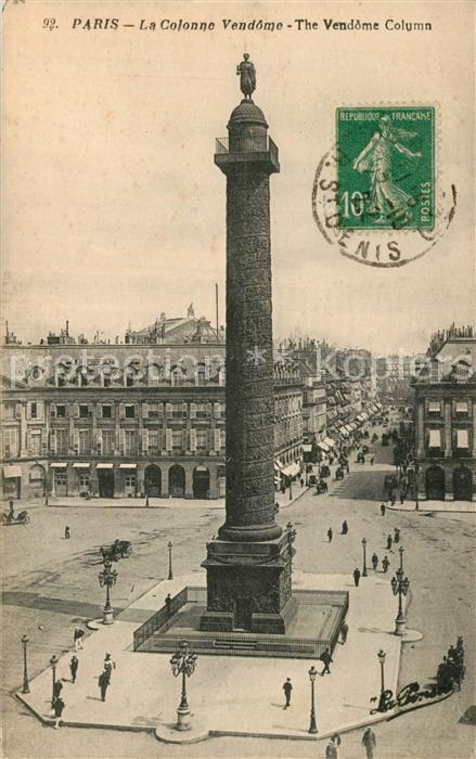 AK / Ansichtskarte Paris La Colonne Vendome  Paris