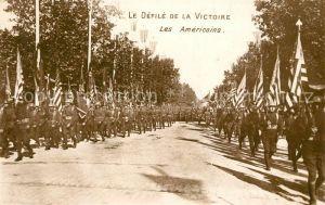 AK / Ansichtskarte Paris Le Defile de la Victoire Les Americains Paris