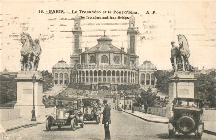 AK / Ansichtskarte Paris Le Trocadero et la Pont d Iena Paris