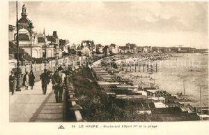 AK / Ansichtskarte Le_Havre Boulevard Albert Ier et la plage Le_Havre