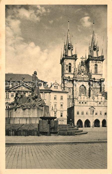 AK / Ansichtskarte Prag_Prahy_Prague Das Hus Denkmal Prag_Prahy_Prague