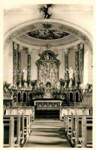 AK / Ansichtskarte Hartheim_Messstetten Kirche Inneres Chor Hartheim_Messstetten