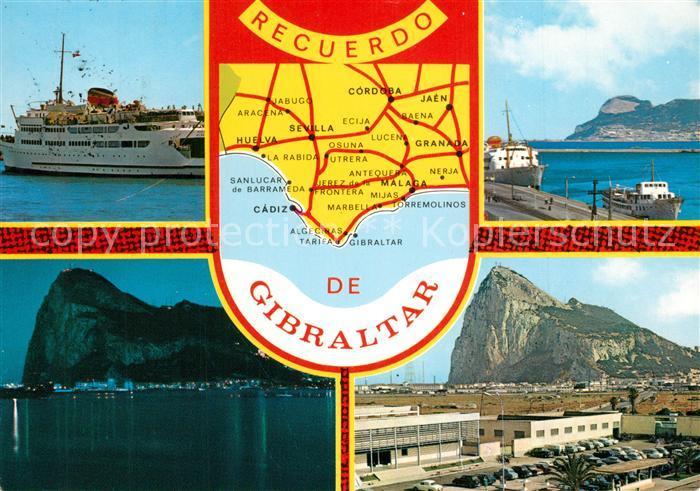 AK / Ansichtskarte Gibraltar Felsen Hafen Panorama Gibraltar