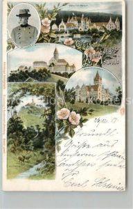 AK / Ansichtskarte Altenburg_Thueringen Herzog Ernst von Sachsen Altenburg Schloss Leuchtenburg Waldpartie Wild Litho Altenburg Thueringen