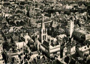 AK / Ansichtskarte Dijon_Cote_d_Or Eglise Notre Dame Tour de Bar Vue Aerienne  Dijon_Cote_d_Or