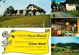 AK / Ansichtskarte Sarleinsbach Restaurant Pension Reitstall Haus Mandl Kräuter Mandl Sarleinsbach