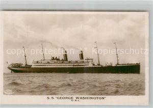 AK / Ansichtskarte Dampfer_Oceanliner S.S. George Washington  Dampfer Oceanliner